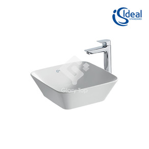 'Concept Air Cube' fine fireclay vessel washbasin without overflow hole