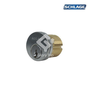 """Mortise thread cylinder 1-1/4"""" long, 6-pin, EN1303:2005 classification 1-6-0-0-0-0-6-0, with 3 keys, SCP finish, under Masterkeying System."""