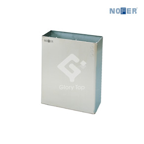 Stainless steel Grade 304 surface or floor mounted waste receptacle without lid.