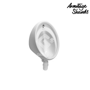 'Sanura HygenIQ' wall hung urinal bowl with T9301P nylon back inlet spreader in white colour, special designed waste outlet and hangers.