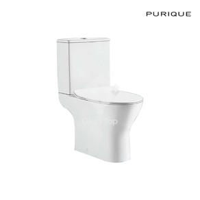 Vitreous china close coupled RIMLESS WC