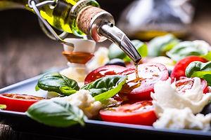 Caprese Salad with tomatoes mozzarella o