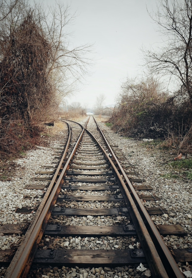 divided train track