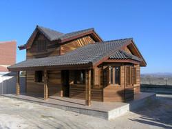 Casa de Madera con mirador