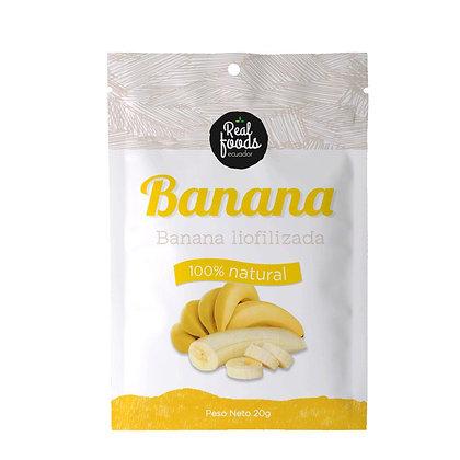 Caja de 6 unidades Banana Liofilizada