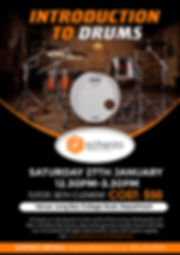 January 2018 School Holiday Course: A fun, hands-on introduction to drumming. Learn about the drum kit, play some grooves and go home with your own sticks!