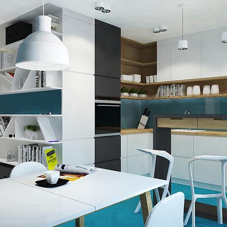 Typ: Mieszkanie  Rynek: Wtórny  Powierzchnia projektowana: 43 mkw