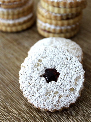 Traditional Linzer Tart Cookies with Raspberry Jam