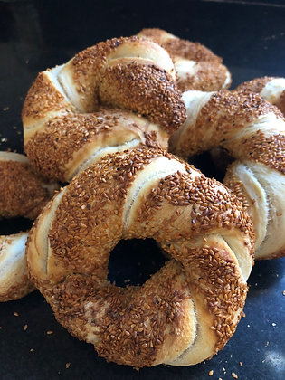 Simit (Turkish Sesame Bagel)