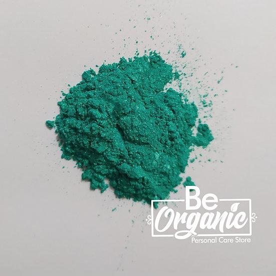 Mica cosmética verde aguamarina
