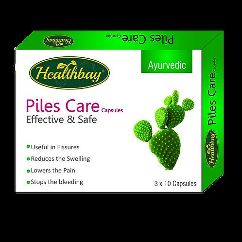 Healthbay's Piles Care Capsules 100% Herbal (30 Caps.)