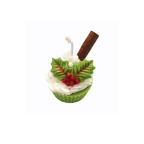 Christmas Cupcake Candle