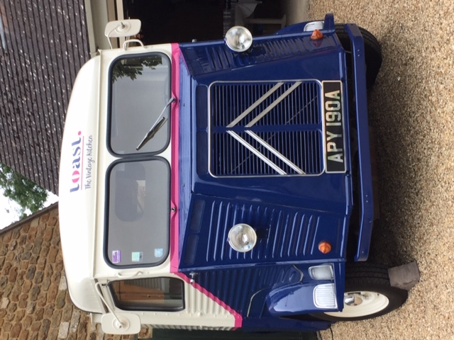 Front on van