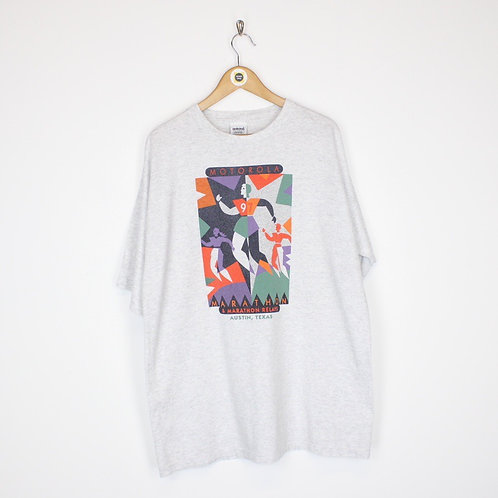 Vintage 1997 Adidas Texas Marathon T-Shirt Large
