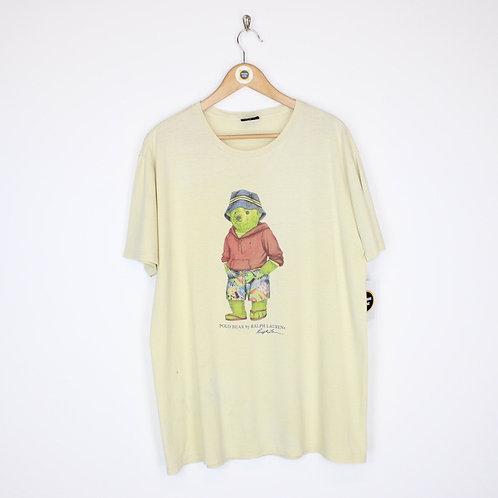 Vintage Polo Bear T-Shirt Medium