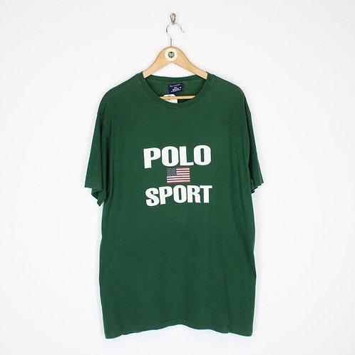 Vintage 90's Polo Sport T Shirt Medium