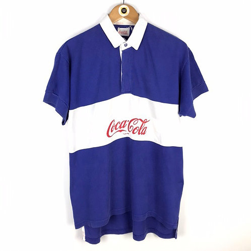 Rare Vintage Coca Cola Rugby Shirt Medium
