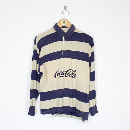 Rare Vintage Coca Cola Rugby Shirt Small