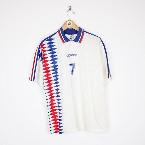 Vintage Adidas Football Shirt Large