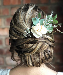 Flowers just make a hair do! Thank you _