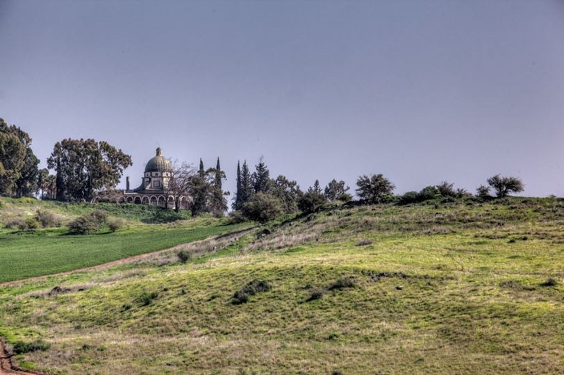 the Mount of Beatitudes in Galilee, in the Holy Land
