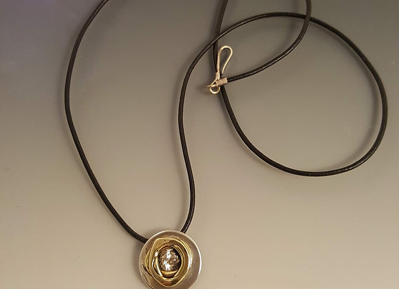 Sterling Silver and Brass Pendant