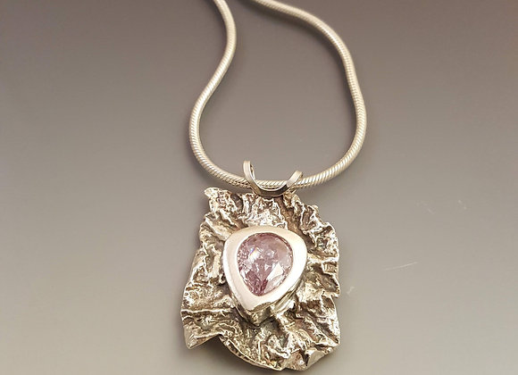 Reticulated Sterling Pendant