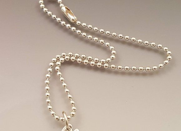 Sterling silver peace dove anklet