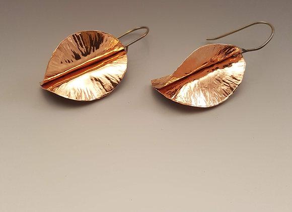 3 Dimensional Copper Earrings