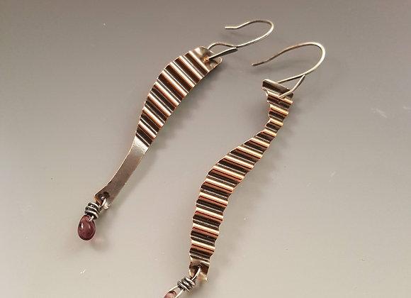 Corrugated Asymmetrical Earrings