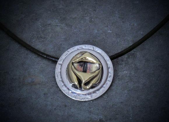 Crushed bullet shell pendant # 2