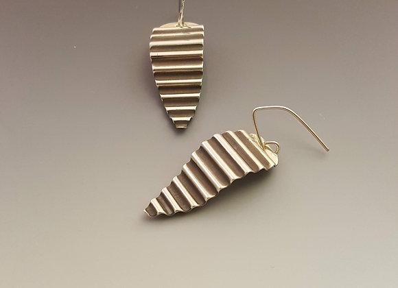 Sterling Silver Corrugated Earrings