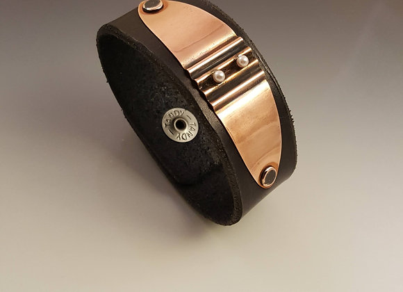 Leather Cuff with Pearls