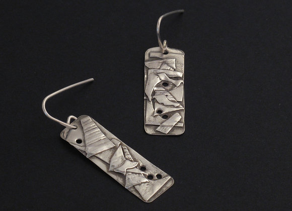 Applique fine silver earrings