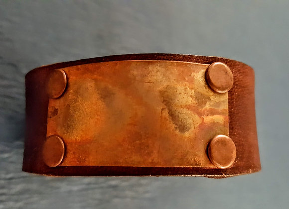 Flame painted copper cuff