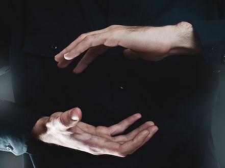 présentation de la main
