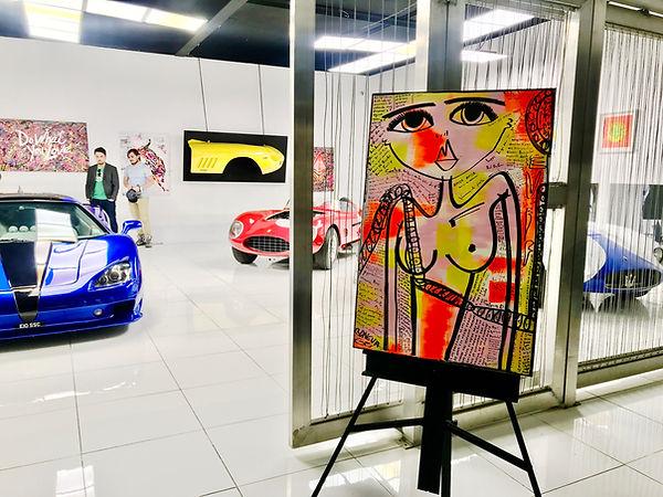 miss frais art exhibit miami super car r