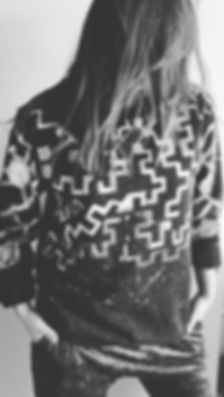 MISS FRAIS hand painted sweatshirt 2017.