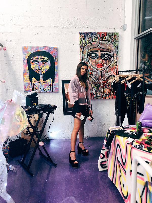 Miss Frais art exhibit.JPG