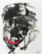 Smiley boy Maria Tokareva ink on paper