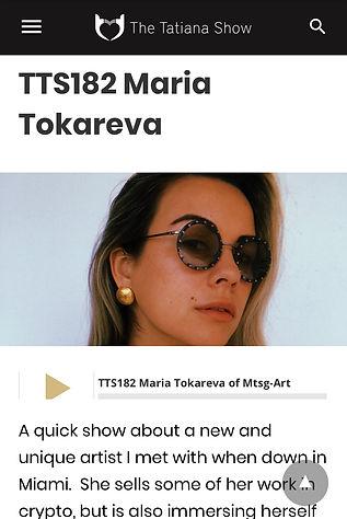 Maria Tokareva, the Tatiana Show podcast