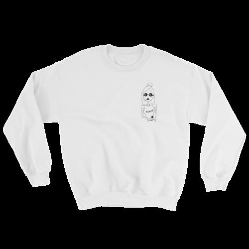 Miss Frais Suave white sweatshirt
