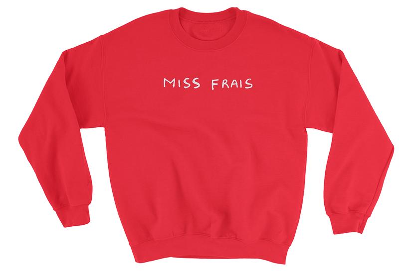 Miss Frais suave girl on the back