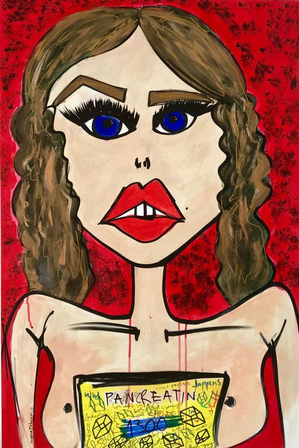 Miss Frais Pancreatin original painting.