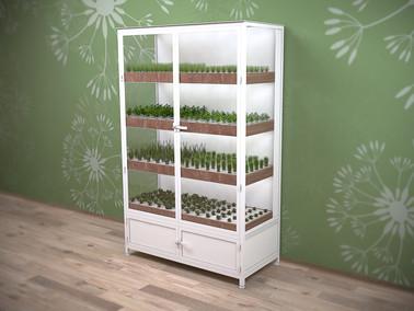 Leafy greenhouse unit