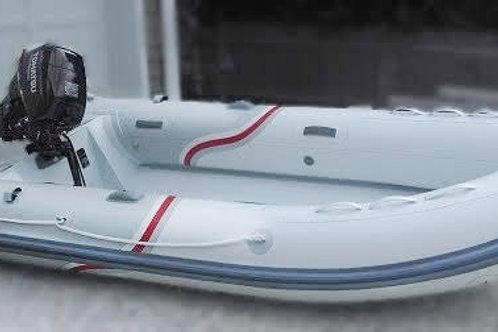 """12'8"""" Aluminum RIB w/Deck & Locker (ALA380L)"""