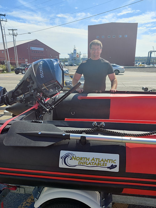 """12'8"""" Fire Rescue Inflatable Boat"""