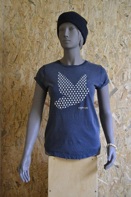 "Tresenmann T-Shirt ""Big Bird"" (stonewashed - navi)"