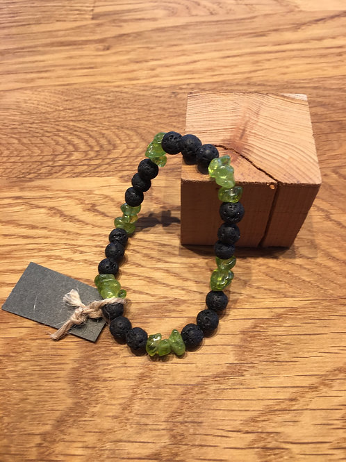 Olivin-Lavastein Armband