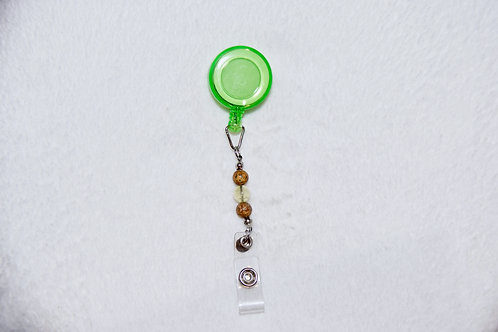 Retractable Lanyard with Stone